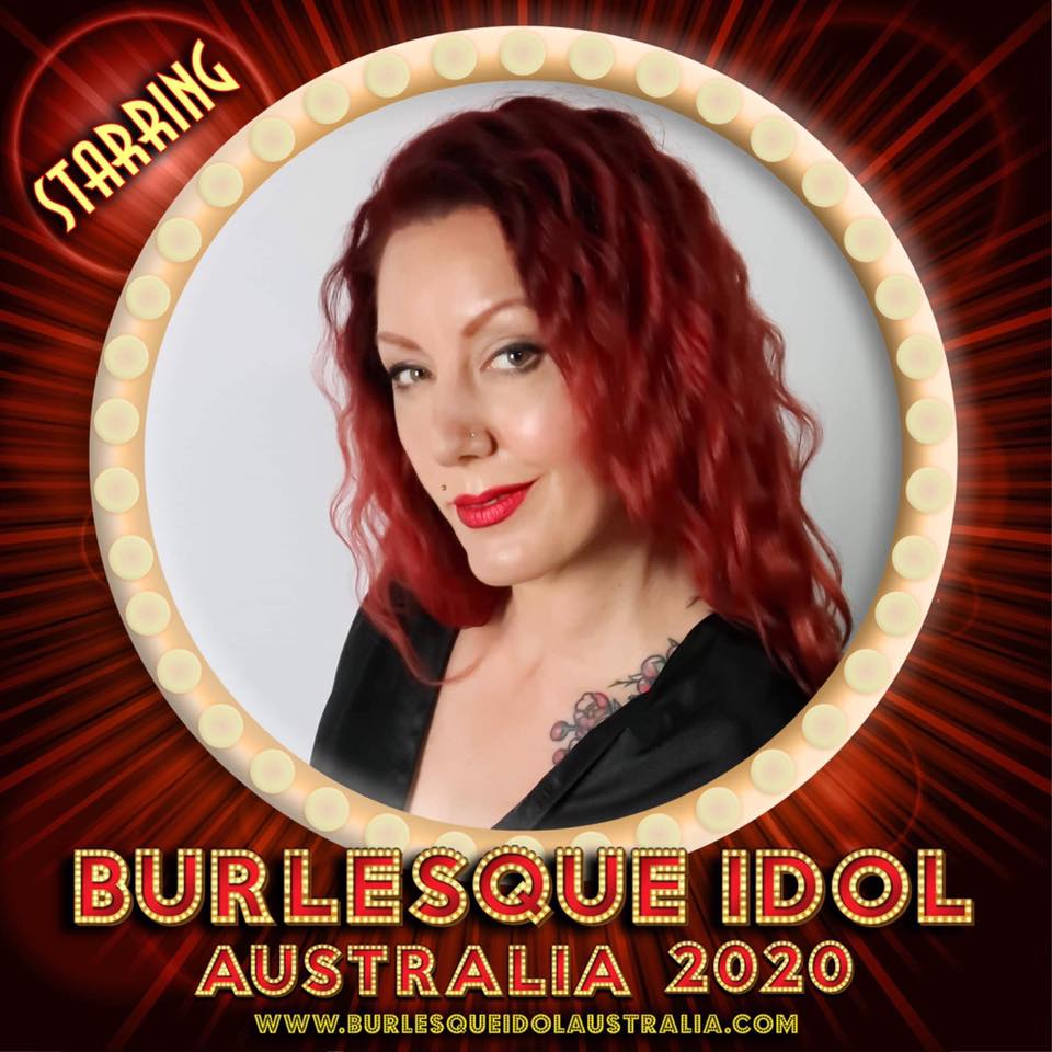 Promotional photo of Cabernet Jay for competing in Burlesque Idol Australia