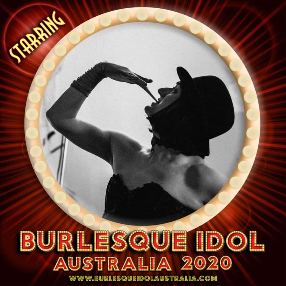 Promotional photo of Isadora Persona for competing in Burlesque Idol Australia