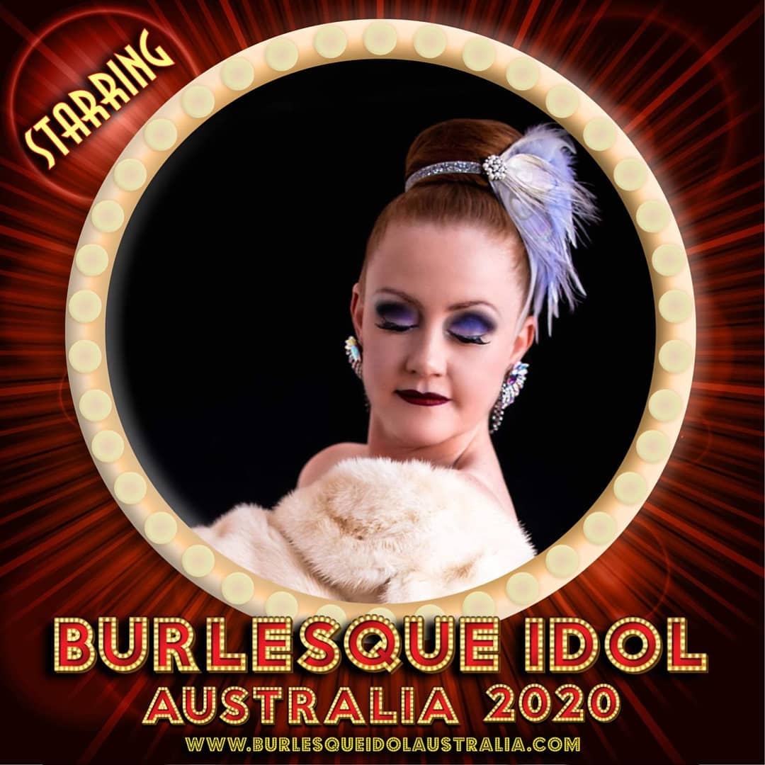 A promotional photo of Pearly Lustre who competing in Burlesque Idol Australia