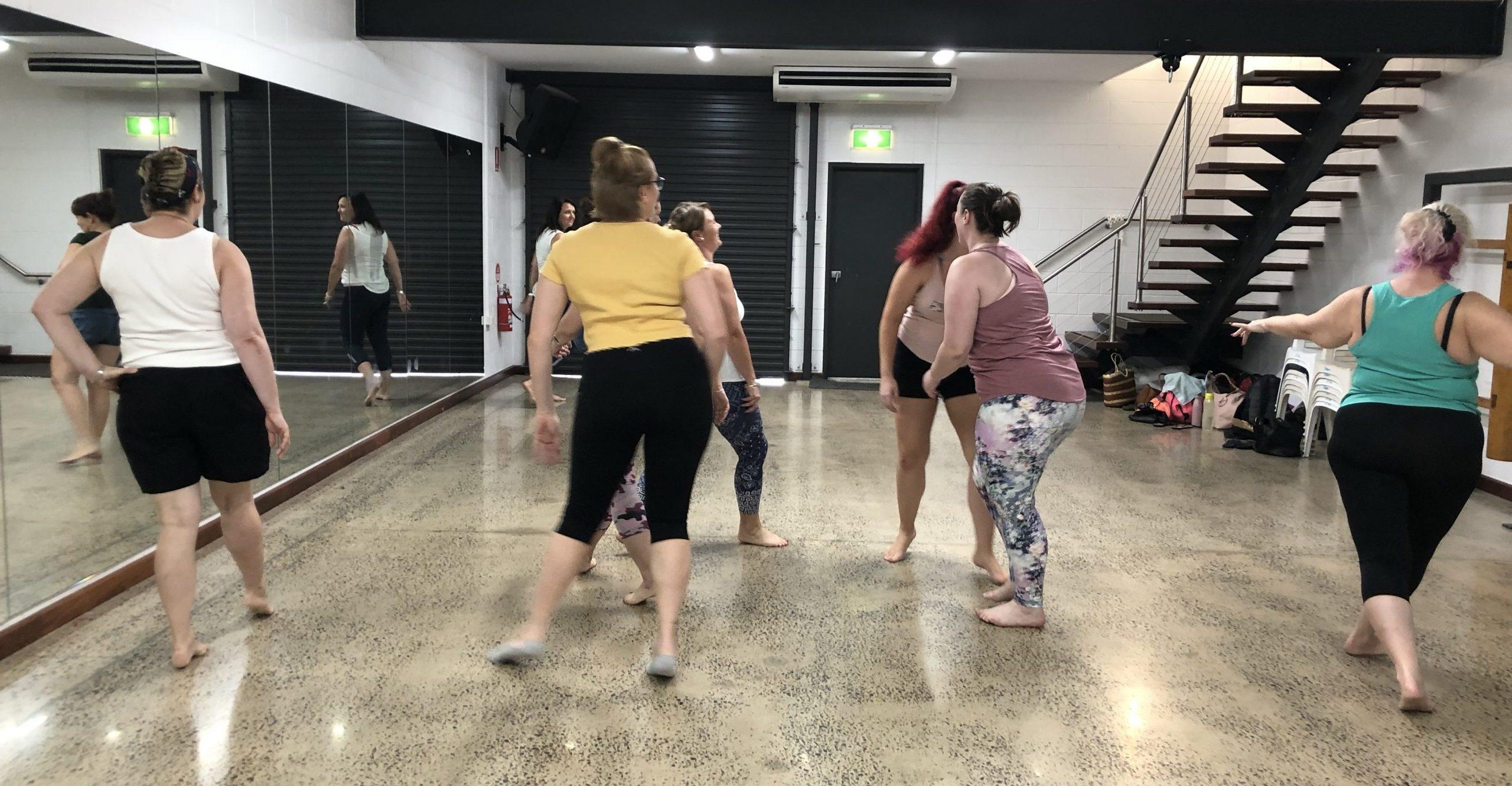 Burlesque dance class in Darwin