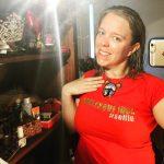 Mae de la Rue Burlesque Idol Australia #Selfie t-shirt